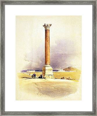 Pompeys Pillar, Ancient Roman Monolith Framed Print by Science Source