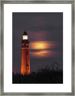 Ponce De Leon Full Moon Framed Print