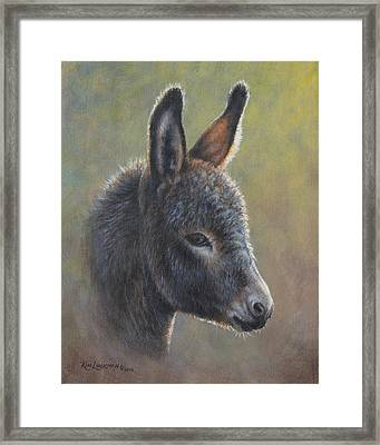 Poncho Framed Print by Kim Lockman