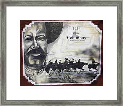 Poncho Villas Raid On Columbus New Mexico Framed Print by Kurt Van Wagner