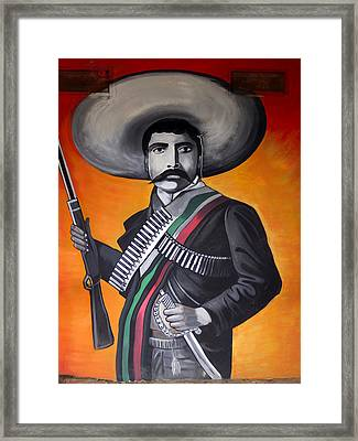 Emiliano Zapata Framed Print by Kurt Van Wagner