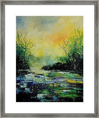 Pond 459060 Framed Print by Pol Ledent