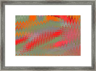 Framed Print featuring the digital art Pond Abstract - Summer Colors by Ben and Raisa Gertsberg