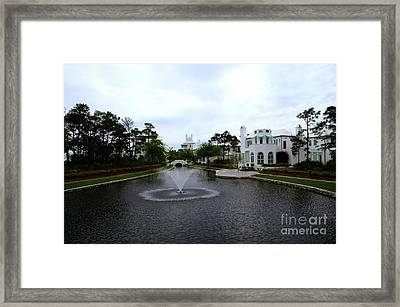 Pond At Alys Beach Framed Print by Megan Cohen