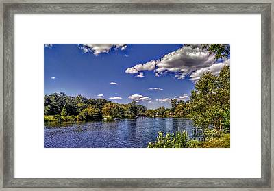 Pond At Verona Park Framed Print
