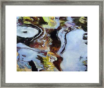 Pond Currents Framed Print by Anita Stoll