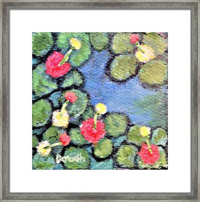 Pond Flowers Framed Print