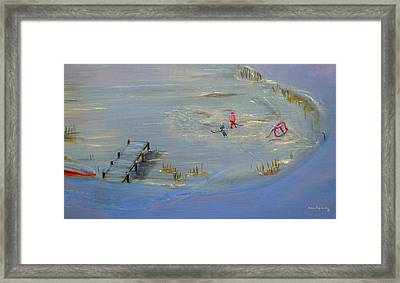 Pond Hockey Framed Print