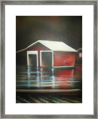Pond House Framed Print by Scott Easom
