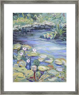 Pond In Berlin Framed Print