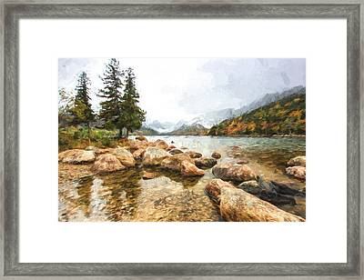 Pond In The Mountains II Framed Print by Jon Glaser