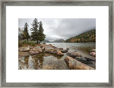 Pond In The Mountains Framed Print by Jon Glaser