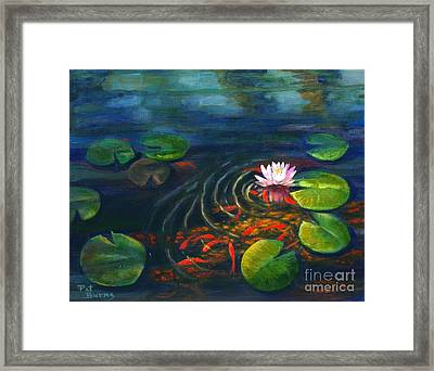 Pond Jewels Framed Print by Pat Burns