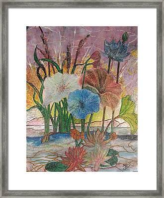Pond Framed Print by John Vandebrooke