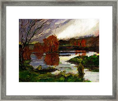 Pond Of Light Framed Print by Charlie Spear