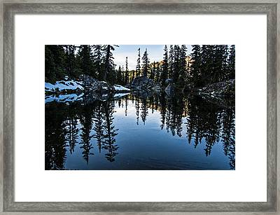 Pond On The Pacific Crest Trail Framed Print
