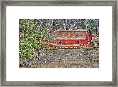 Framed Print featuring the photograph Pond Overlook 2 by Greg Jackson