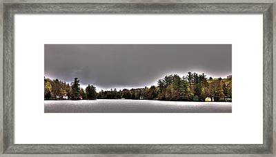 Pond Panorama Framed Print by David Patterson