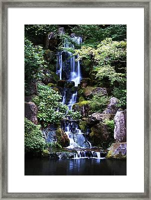 Pond Waterfall Framed Print