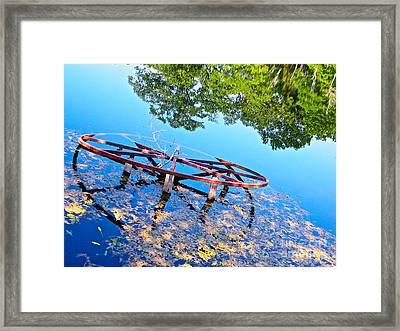 Pond Wheel Framed Print by Chuck Taylor