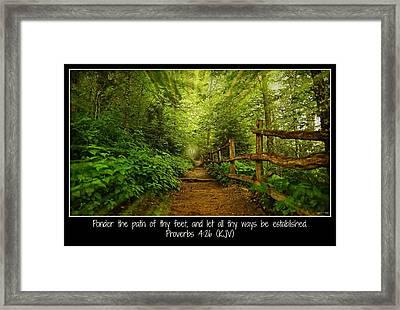 Ponder Thy Path - Poster Framed Print by Stephen Stookey