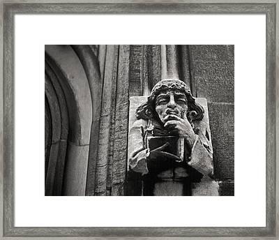 Pondering Gargoyle V.1 University Of Chicago 1976 Framed Print