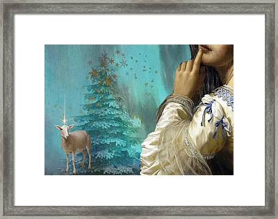 Pondering Peace Framed Print by Laura Botsford