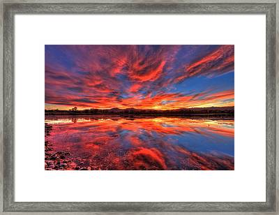 Ponds Of Fiery Framed Print by Scott Mahon