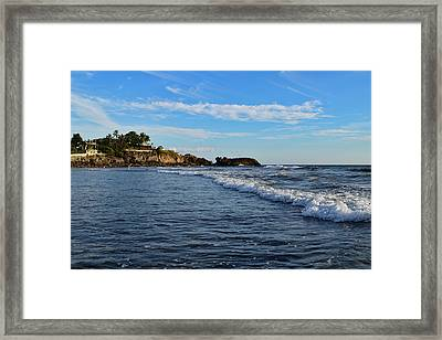 Poneloya Beach Before Sunset Framed Print