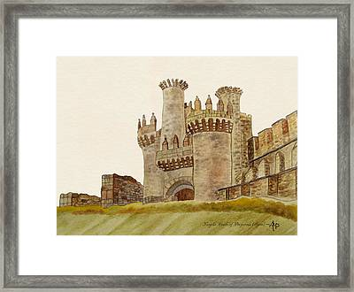 Ponferrada Templar Castle  Framed Print by Angeles M Pomata