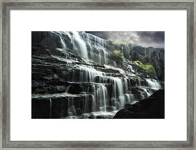 Pongour Falls 1 Framed Print by Alan Kepler