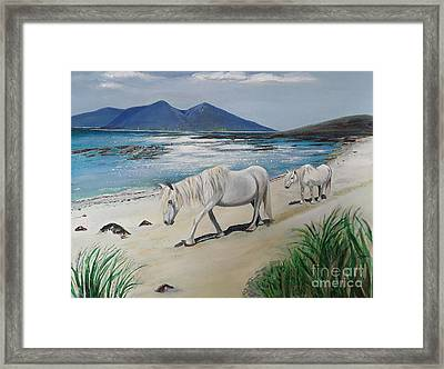Ponies Of Muck- Painting Framed Print