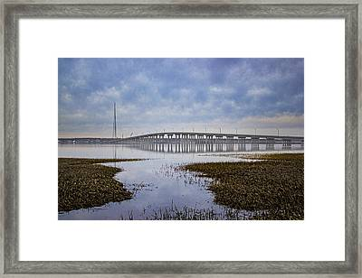 Ponquogue Bridge Hampton Bays Ny Framed Print