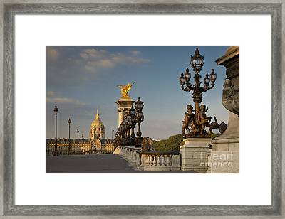 Pont Alexandre IIi At Dawn Framed Print