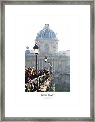 Framed Print featuring the digital art Pont D'art by Julian Perry