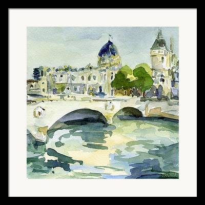Seine Paintings Framed Prints
