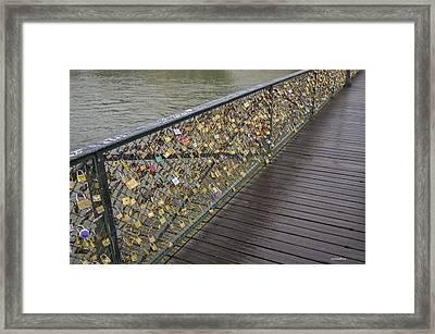 Pont Des Artes Framed Print by Allen Sheffield