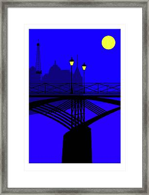 Pont Des Arts Paris Framed Print by Asbjorn Lonvig