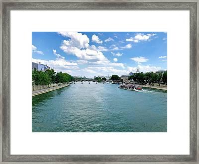 River Seine At Pont Du Carrousel Framed Print