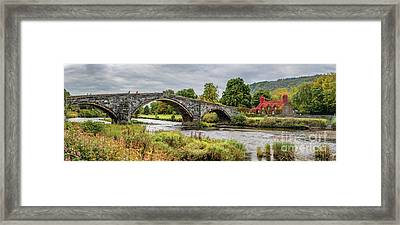 Pont Fawr Bridge Llanrwst Framed Print by Adrian Evans