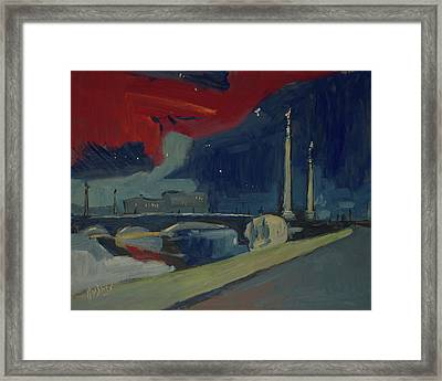 Pont Fragnee In Liege Framed Print