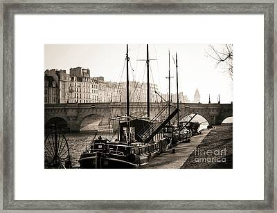 Pont Neuf And The Ile De La Cite In Paris, France, Europe Framed Print by Bernard Jaubert