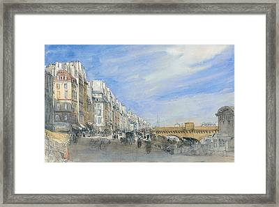 Pont Neuf From The Quai De L'ecole, Paris Framed Print by David Cox