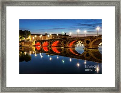 Framed Print featuring the photograph Pont Neuf In Toulouse by Elena Elisseeva