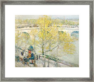Pont Royal Paris Framed Print by Childe Hassam