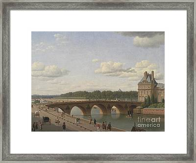 Pont Royal Seen From Quai Voltaire, 1812 Framed Print by Christoffer-Wilhelm Eckersberg