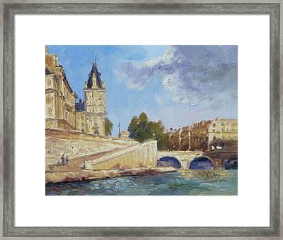 Pont Saint Michel, Paris Framed Print