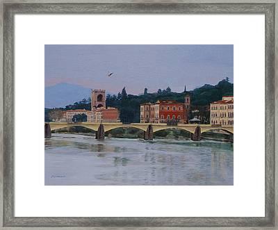 Ponte Vecchio Landscape Framed Print