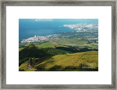 Ponta Delgada And Lagoa Framed Print
