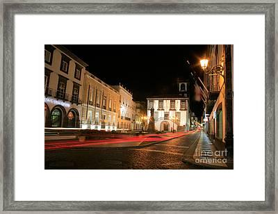 Ponta Delgada At Night Framed Print by Gaspar Avila